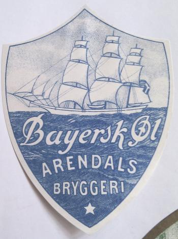 Arendals Bryggeri Bayersk l fra 1931
