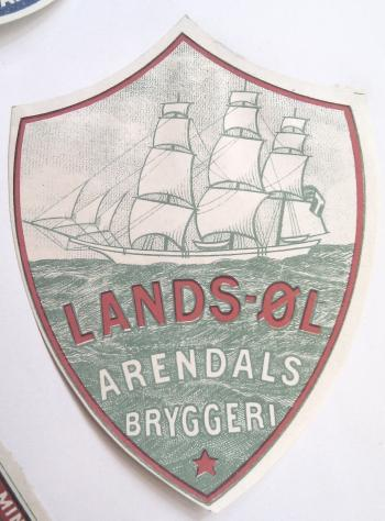 Arendals Bryggeri Landsl fra 1931