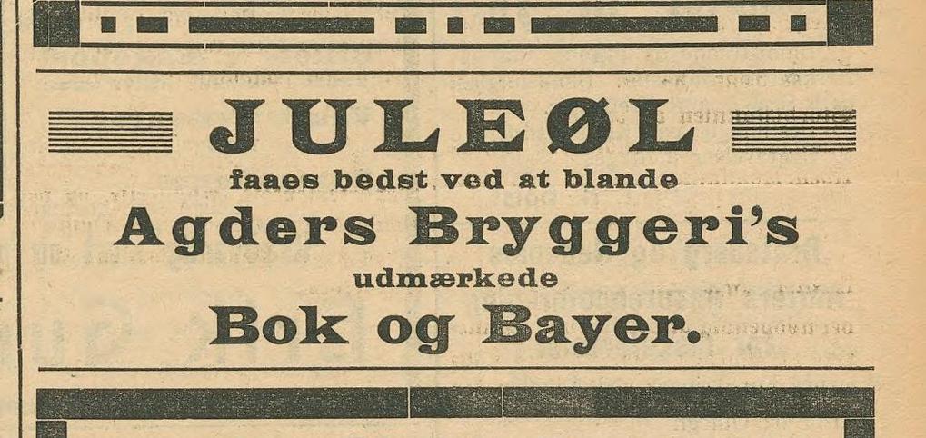 Annonse fra Agder Bryggeri