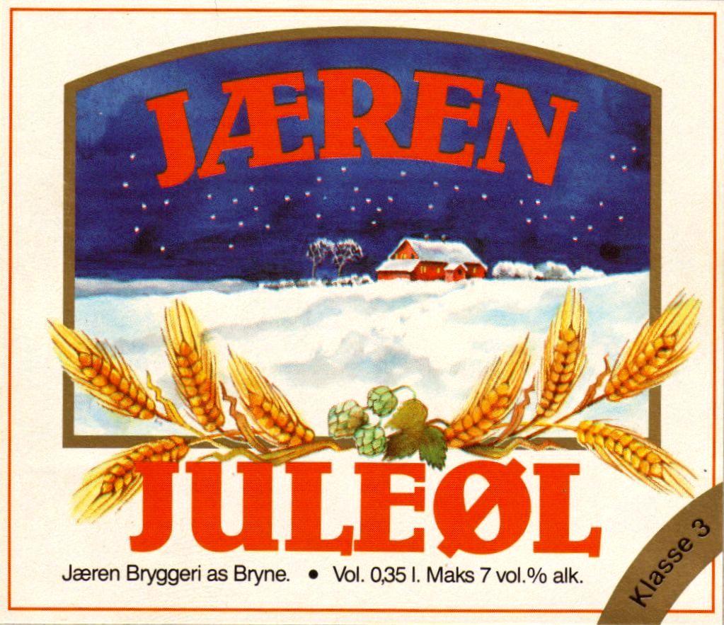Øletikett, Jæren Juleøl