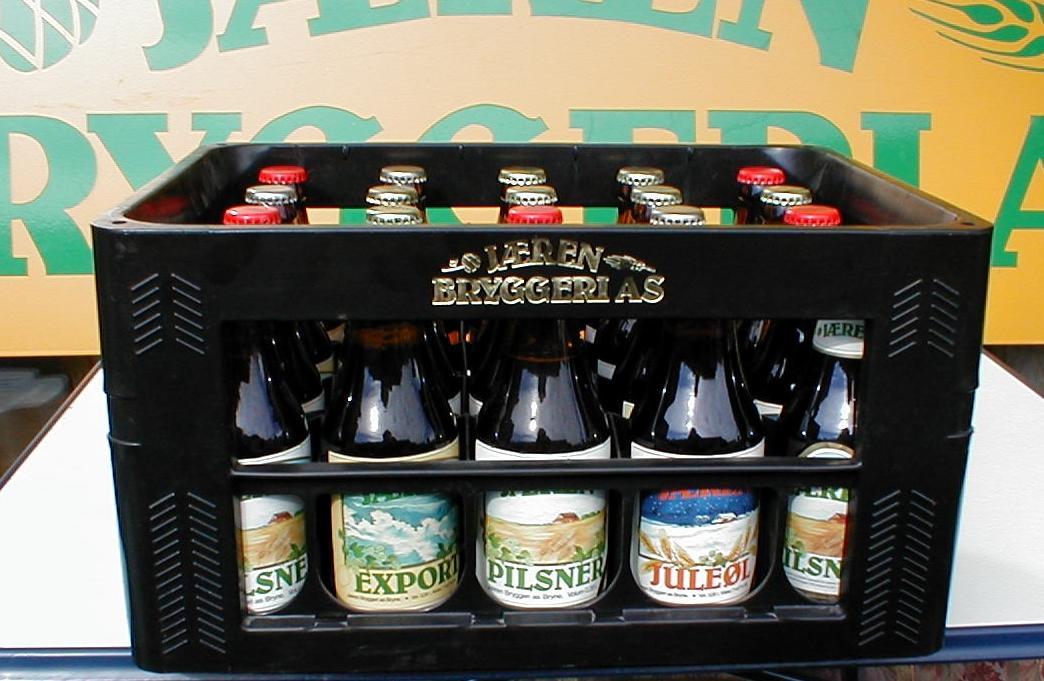 Ølkasse med flasker fra Jæren Bryggeri