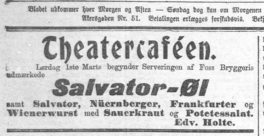 Salvator-Fest på Theatercaféen 1902