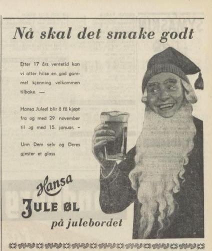 Juleølreklame fra Schous